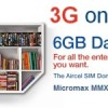 Aircel launches New 3G Dongle Plan 6GB data for Rs 395