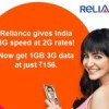 Reliance Communications increases 1GB 3G Data Pack, now Costs Rs.156