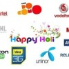 Holi Special offers from Indian Telecos