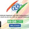 Reliance Comm launches 69GB data pack @Rs 1947, validity of 69 days, on 69th Independence day
