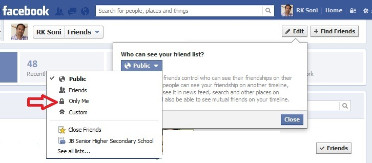 how to create friends list on facebook