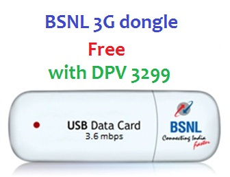 Bsnl Offers 3g Dongle Free With Dpv 3299 From 1 Aug 2013