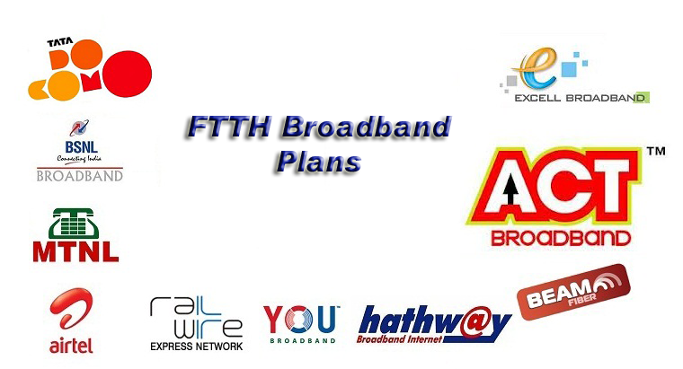 FTTH BB copy ftth broadband plans compare airtel, tata docomo, bsnl and others,Airtel Home Broadband Plans