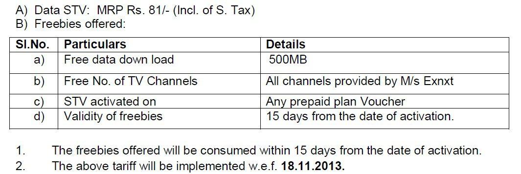 bsnl mobile tv STV1